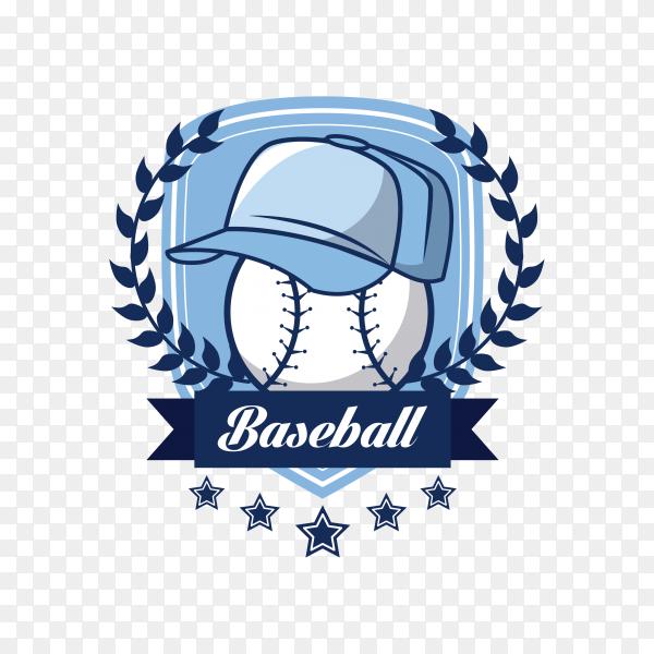 Baseball championship card on transparent background PNG