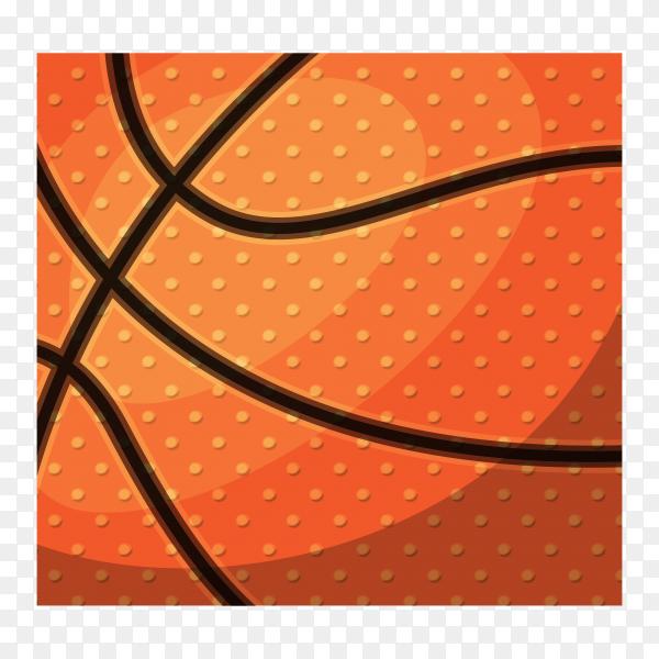 Basketball sport design on transparent background PNG