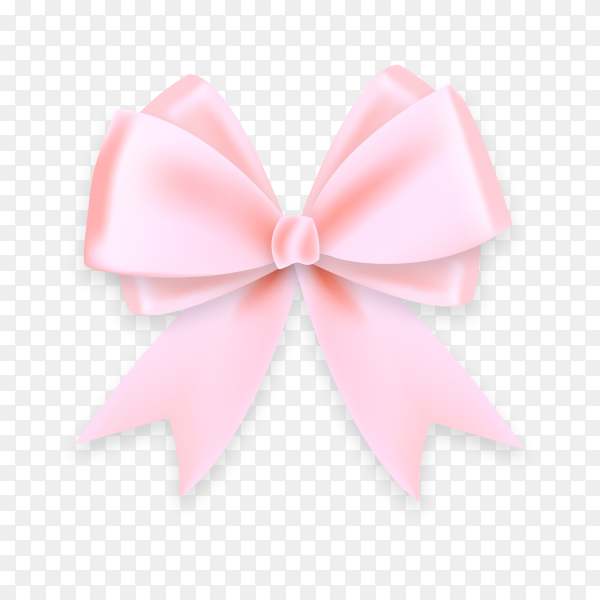 Beautiful bows from Pink ribbon on transparent background PNG.png