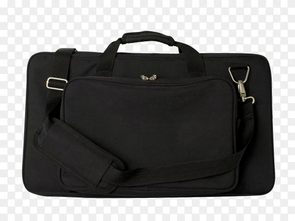 Big black bag isolated on transparent background PNG