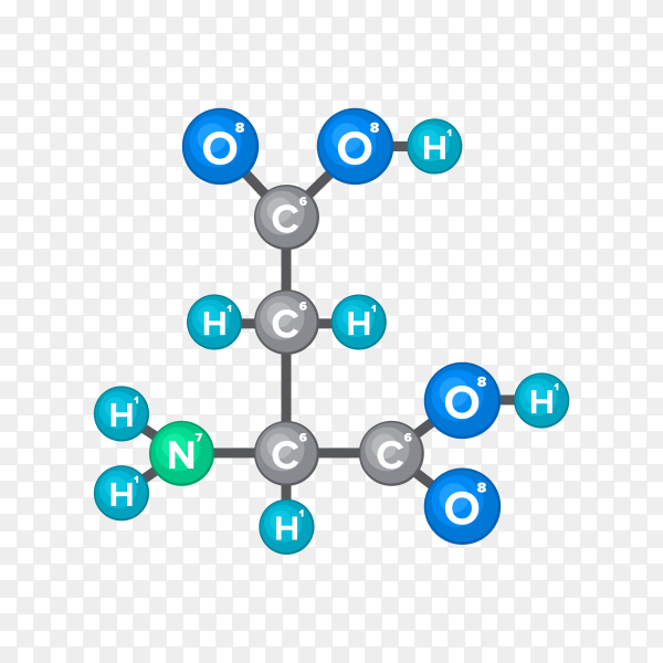 Bitmap Molecular structure of chemical substance premium vector PNG