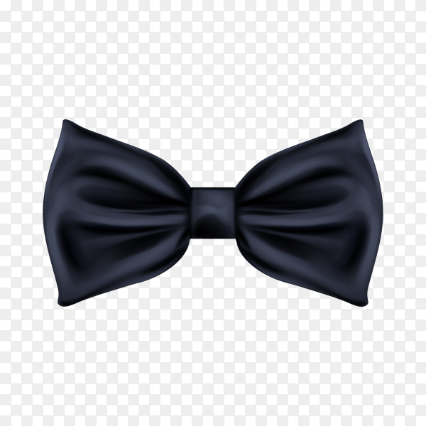 Black bow tie realistic icon isolated on transparent background PNG.png