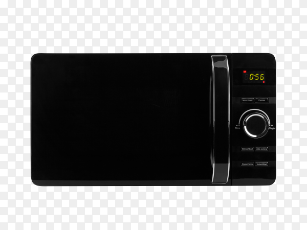 Black microwave isolated on transparent background PNG