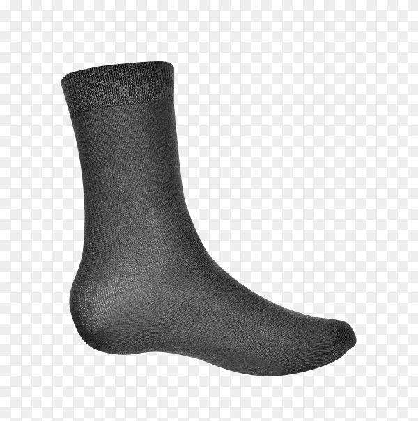 Black socks for clothing isolated on transparent background PNG