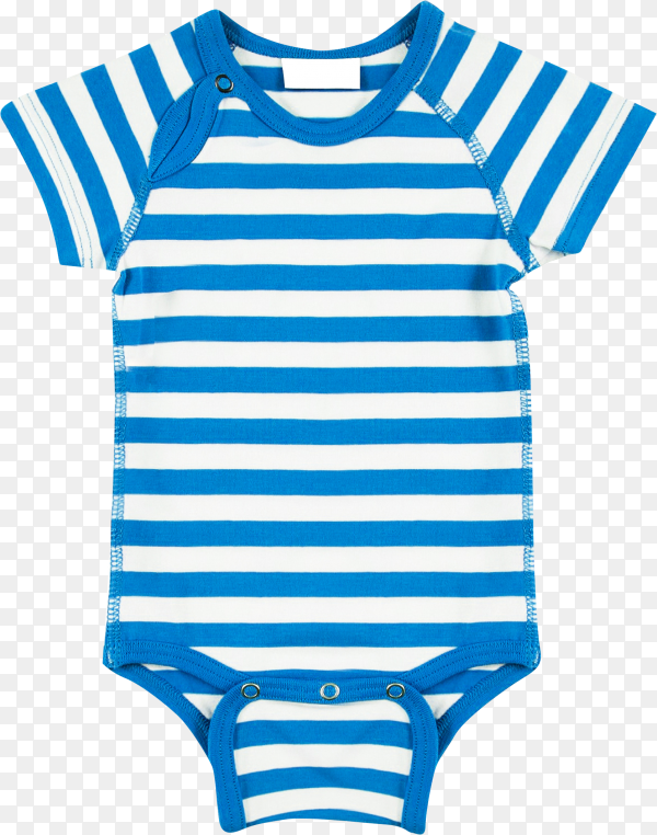 Blue Baby Ringer T shirt on transparent background PNG
