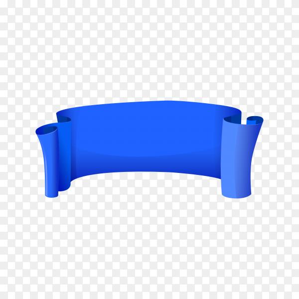 Blue banner template on transparent background PNG