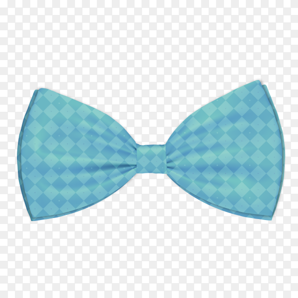 Blue bow tie on transparent background PNG.png