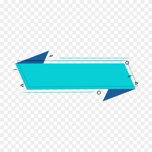 Blue empty banner premium vector PNG