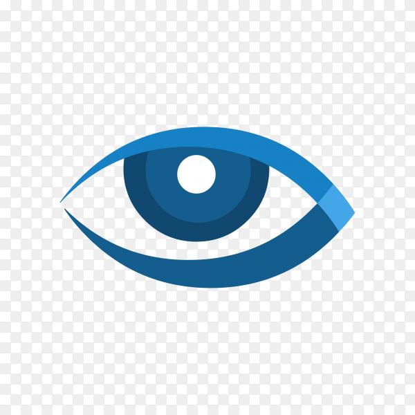 Blue eye illustration on transparent background PNG
