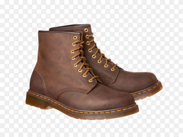 Brown boots isolated on transparent background PNG