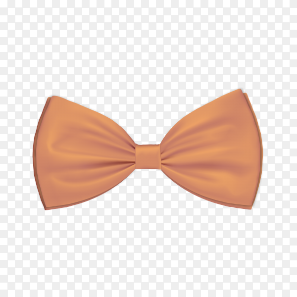 Brown bow tie on transparent background PNG.png