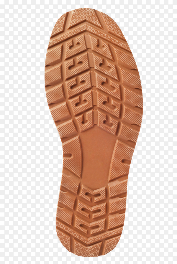 Brown shoe sole on transparent background PNG