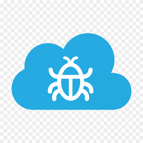 Bug icon style on transparent background PNG