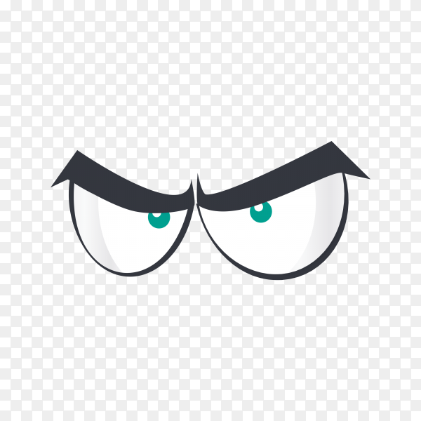 Cartoon scene with eyes isolated on transparent background PNG