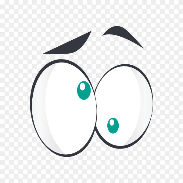 Cartoon scene with eyes on transparent background PNG