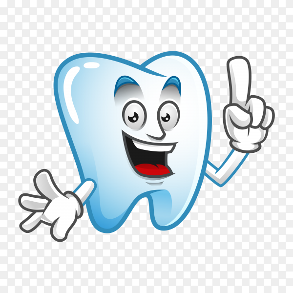 Cartoon tooth isolated on transparent PNG.png