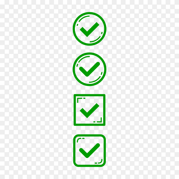 Check marks. check mark collection. business icons. check mark isolated on transparent PNG