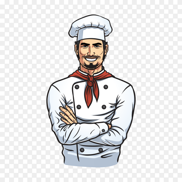 Chef character design premium vector PNG