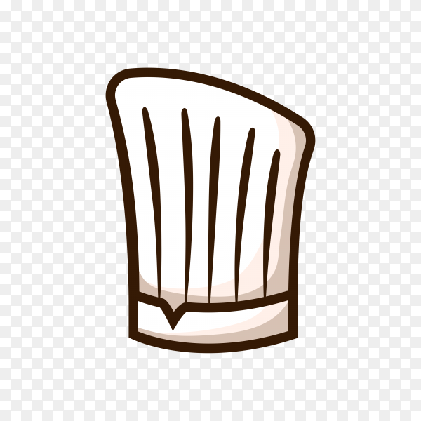Chef hat isolated on transparent background PNG