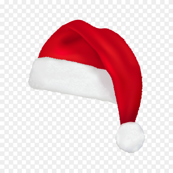 Christmas illustration with red santa hat premium vector PNG.png