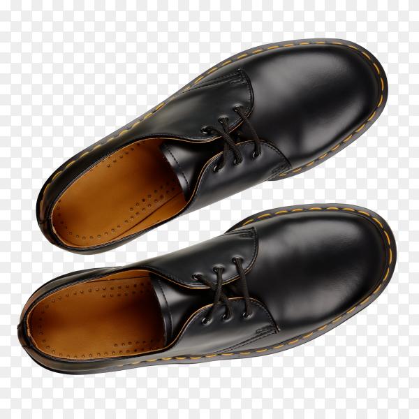 Close-up of elegant mens shoes on transparent background PNG