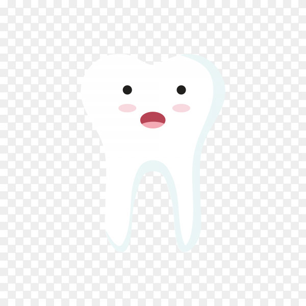 Close up of teeth icon character on transparent background PNG.png