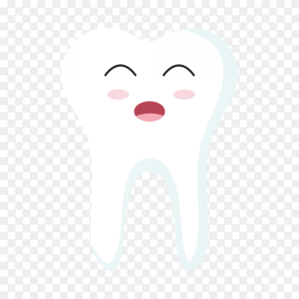 Close up of teeth icon character premium vector PNG.png