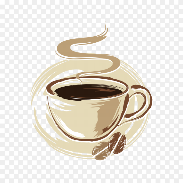 Coffee cup icon on transparent background PNG