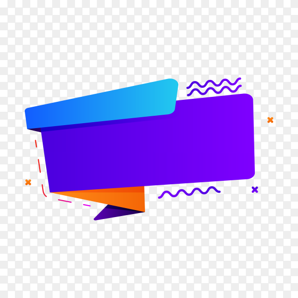 Colorful banner template on transparent background PNG