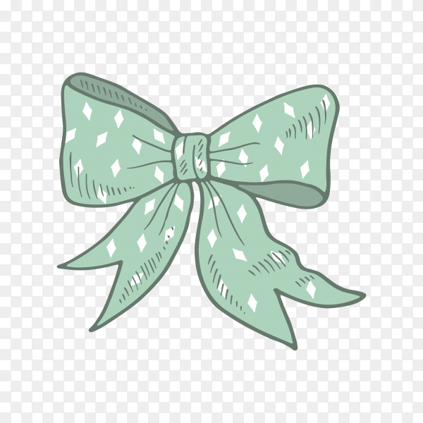 Colorful bow for gifts on transparent background PNG.png