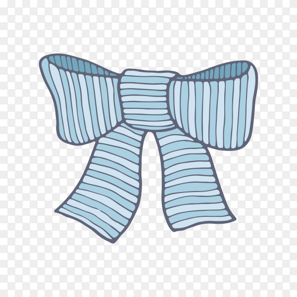 Colorful bow on transparent PNG.png