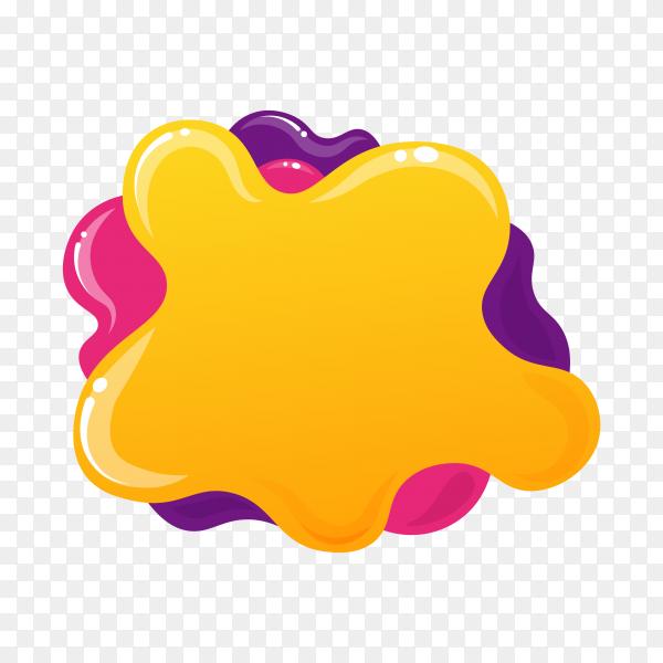 Colorful bubble for speech premium vector PNG