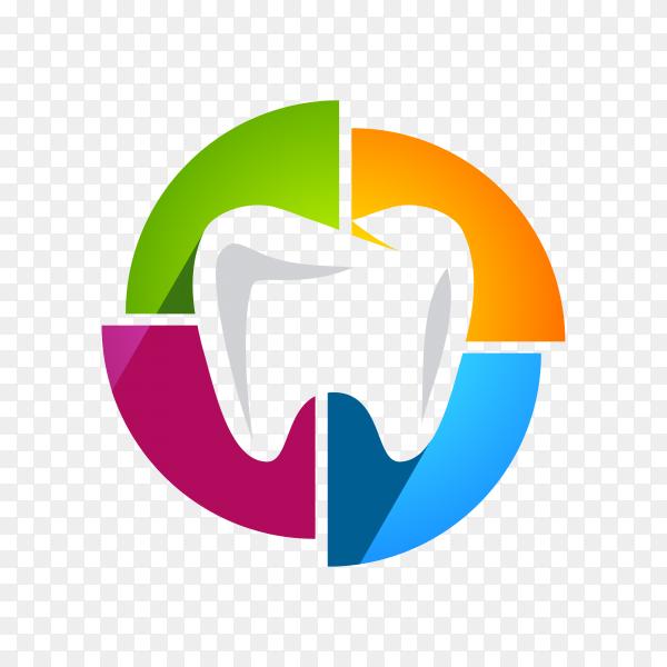 Colorful dental logo on transparent background PNG.png