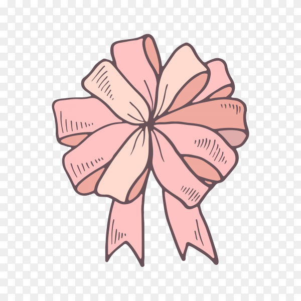 Colorful gift bow and ribbon on transparent background PNG.png
