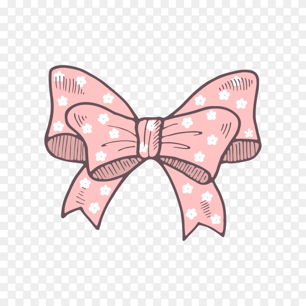 Colorful gift bow isolated on transparent background PNG.png