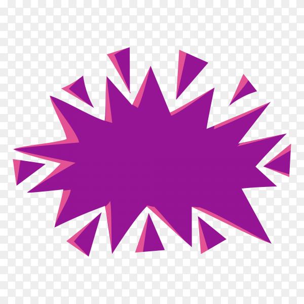 Colorful hand drawn speech bubble premium vector PNG