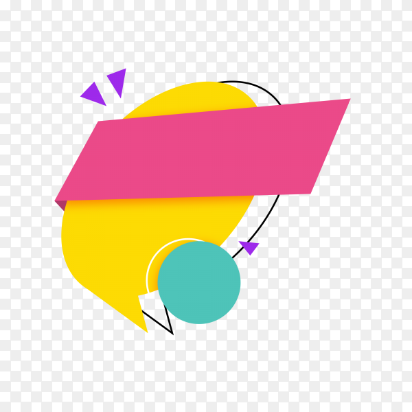 Colorful sale banner on transparent background PNG