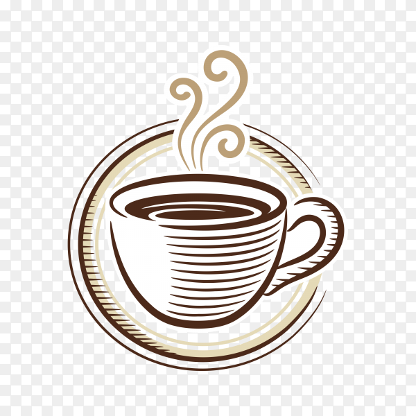 Cup (mug) of hot coffee on transparent background PNG