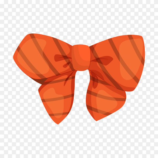 Cute decorative bow on transparent background PNG.png