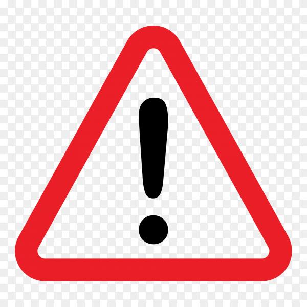Danger sign, warning sign, attention sign. Danger warning attention icon on transparent background PNG
