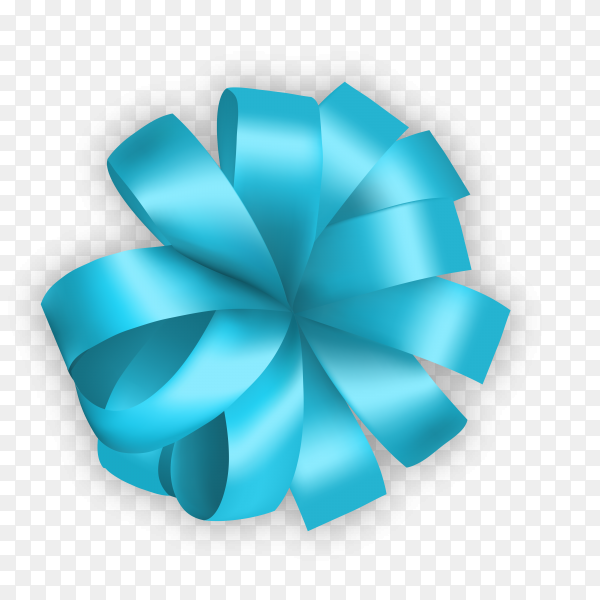 Decorative bow in blue color on transparent background PNG.png