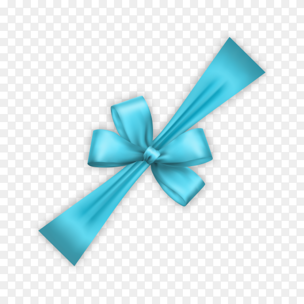 Decorative bow in blue color premium vector PNG.png