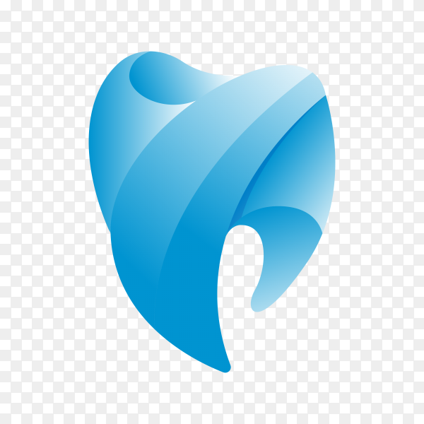 Dental Clinic Logo Tooth abstract design template on transparent background PNG.png