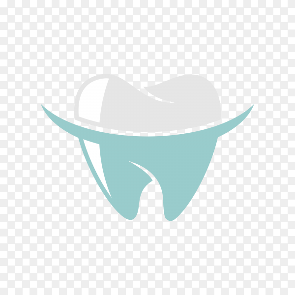 Dental Clinic Logo Tooth abstract design vector template on transparent background PNG.png
