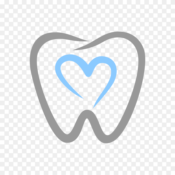 Dental Clinic Logo Tooth abstract design vector template premium vector PNG.png