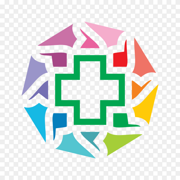 Dental and health logo template on transparent PNG.png