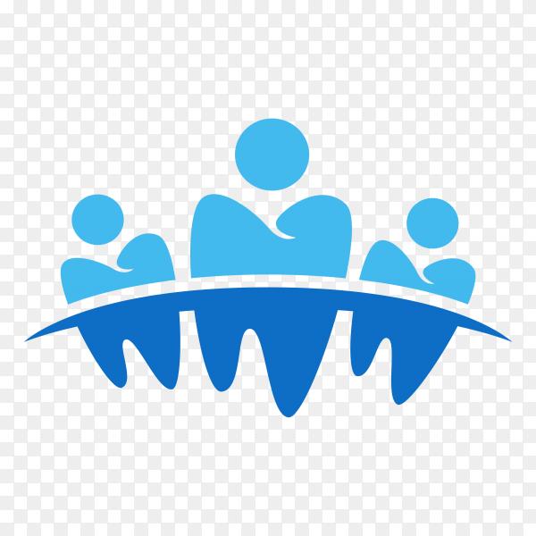 Dental business symbol design on transparent background PNG.png