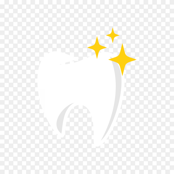 Dental care and dentistry logo deign template on transparent background PNG