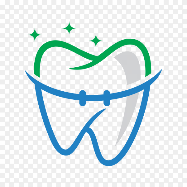 Dental care and dentistry logo deign template on transparent background PNG.png
