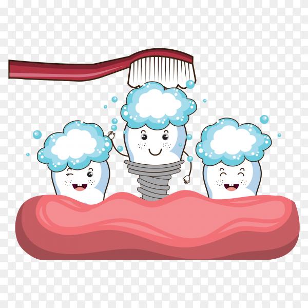 Dental care design illustration on transparent background PNG